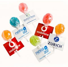 Yum Ball Lollipops with Brand Label