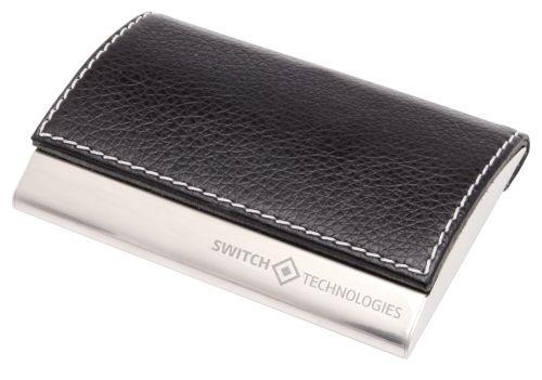 Classic Leather Look Business Card Holder