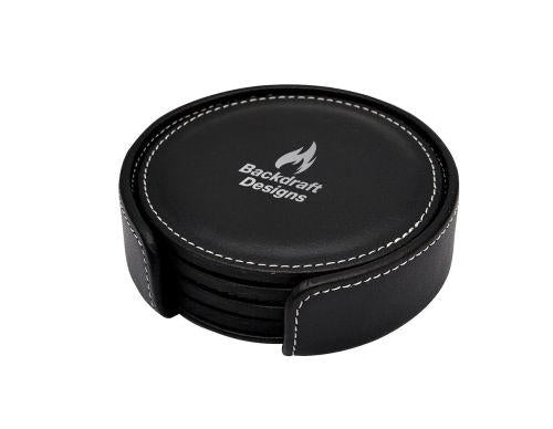 Classic Leather Coaster Set