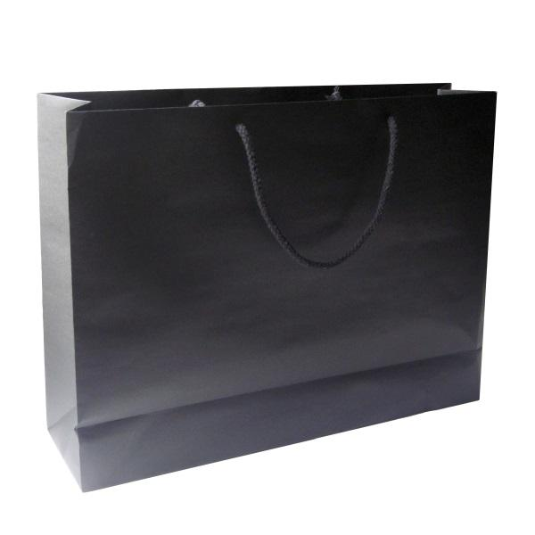 Crete Black Paper Bag With Rope Handles