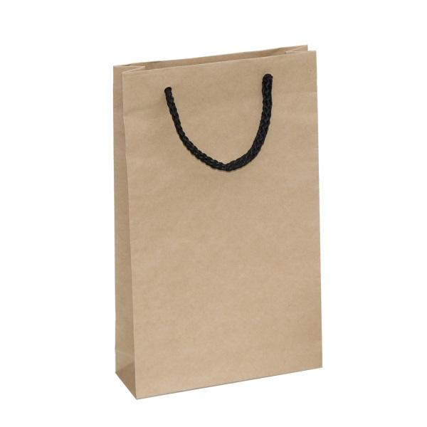 Crete Brown Paper Bag With Black Rope Handles