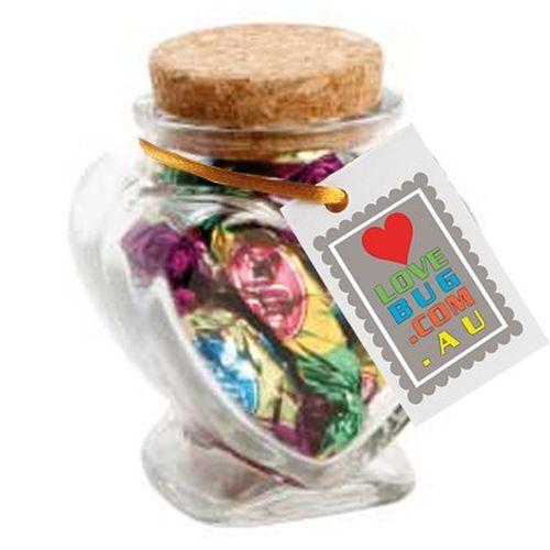 Devine Heart Jar filled with Lollies