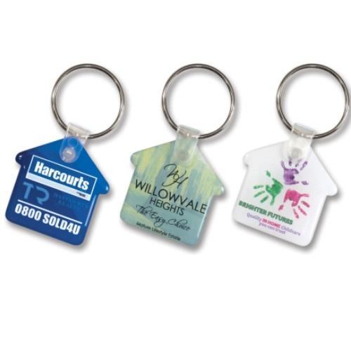 Eden House Shaped Flexi Keyring
