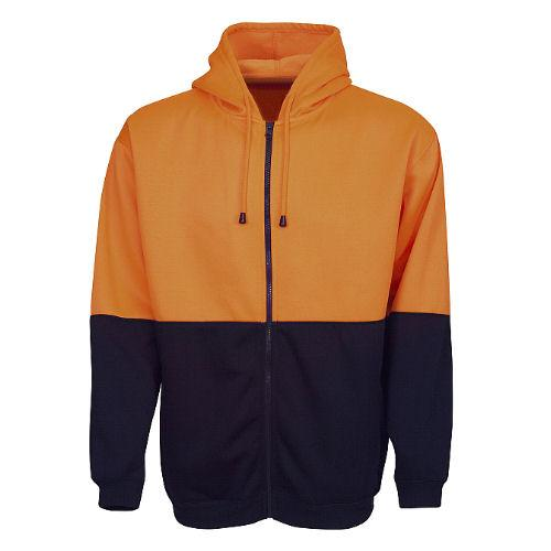 Hi Vis Fleece Hoodie with Zip - Day Use