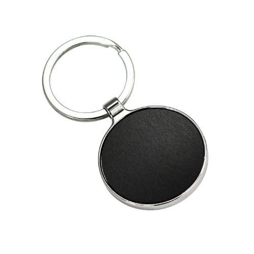 Xcite Round Keyring with double sided plate.