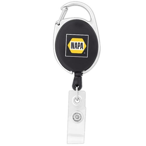 Econo Retractable Badge Holder with Carabiner Clip