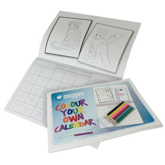 Kids Colouring Calendar