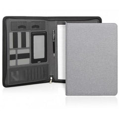 Yale Modern A4 Zippered Compendium - Light Grey