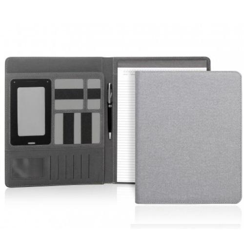 Yale Modern A4 Un-Zippered Compendium - Light Grey