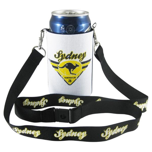 Neo Folding Stubby Cooler with Lanyard