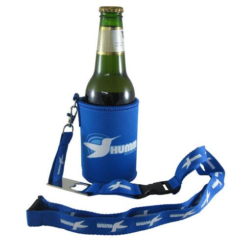 Neo Stubby Cooler with Lanyard Bottle Opener