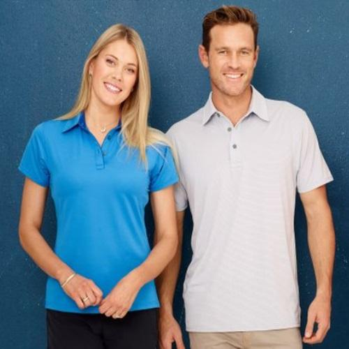 Outline Silver Stripe Deluxe Polo Shirt