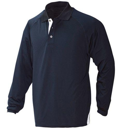 Outline Stretch Long Sleeve Sports Polo Shirt