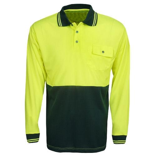 Hi Vis Long Sleeve Polo Shirt - Day Use