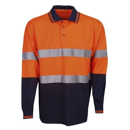 Hi Vis Polo Shirt Long Sleeve - Day/Night Use