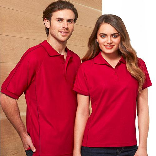 Phillip Bay Raglan Sleeve Polo Shirt