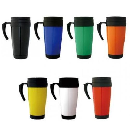Promotional Double Wall Plastic Travel Mug