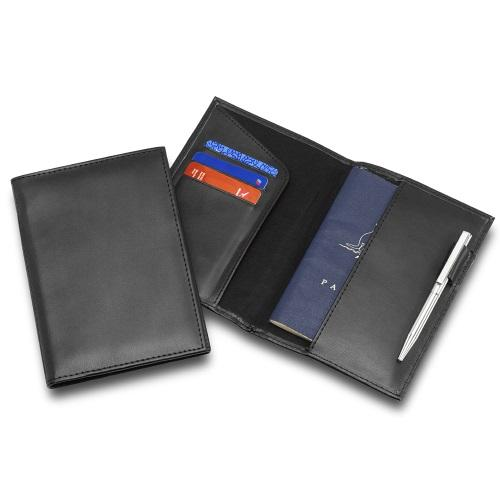 R&M Leather Look Passport Wallet