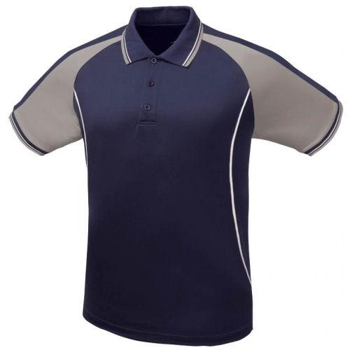 Icon Contrast Panel Design Polo Shirt
