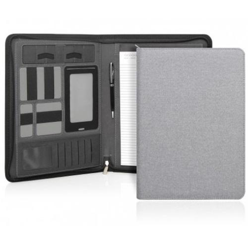 Cambridge Modern A4 Zippered Compendium - Light Grey