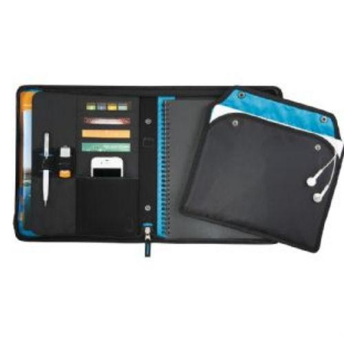 Avalon Blue Trim Compendium with Removable Tablet Holder