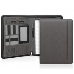 Yale Modern A4 Zippered Compendium - Charcoal