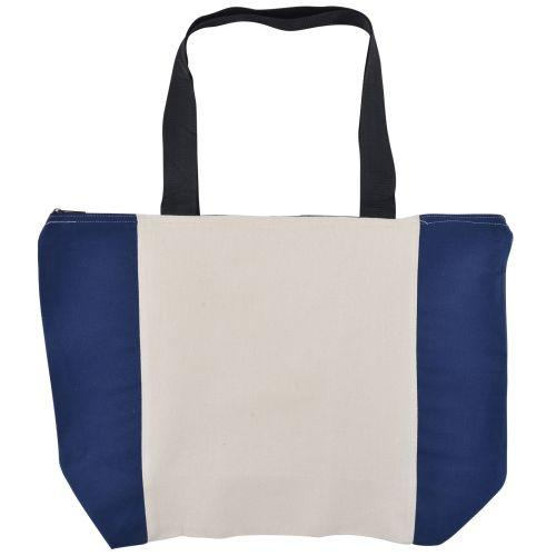 Bleep Zippered Calico Tote Bag