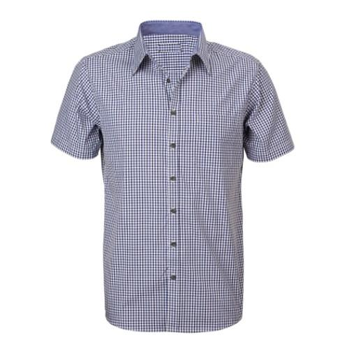 Reflections Two Tone Gingham Check Short Sleeve Shirt