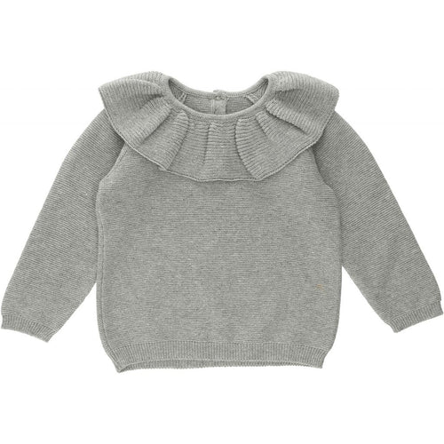 Fiol Collar Cotton Knit - Grey Melange