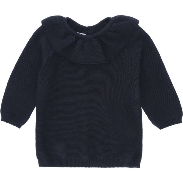 Fiol Collar Cotton Knit - Navy