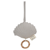 Clam Bell Music Toy -  Light Grey Melange