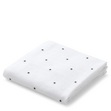 Molly Swaddle Print -  Classic Dot Crisp White