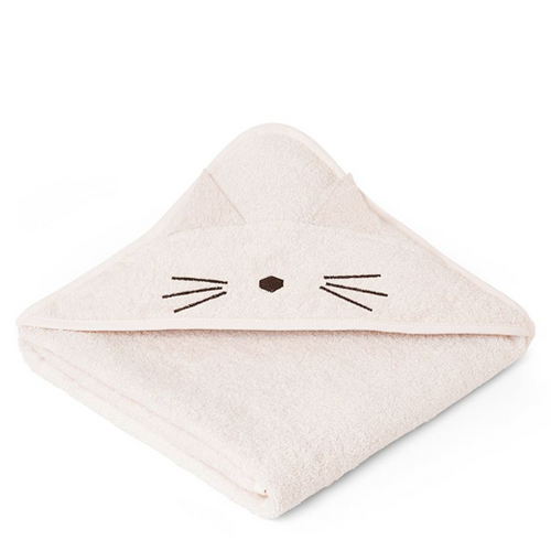 Augusta Hooded Towel - Cat Sweet Rose