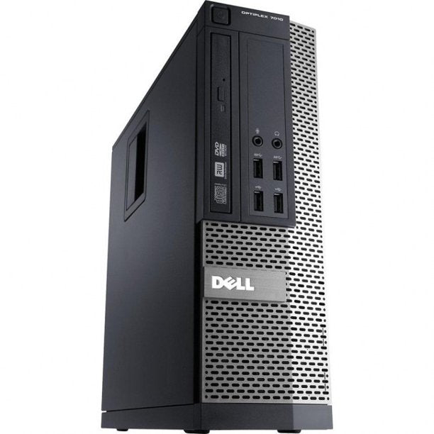 Dell Optiplex 9010 SFF Desktop PC- 3rd Gen 3.4GHz Intel Quad Core HT i7 CPU, 8GB-24GB RAM, Hard Drive or Solid State Drive, Win 7 or Win 10 PRO