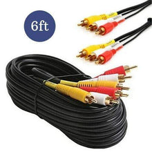 Load image into Gallery viewer, 6 ft RCA Video/ Audio Cables - Computers 4 Less