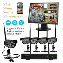 Load image into Gallery viewer, 4 Channel Complete CCTV Wireless Camera Security System w/ 1TB DVR- NEW!! - Computers 4 Less