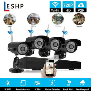 4 Channel Complete CCTV Wireless Camera Security System w/ 1TB DVR- NEW!! - Computers 4 Less