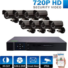 Load image into Gallery viewer, 8 Channel Complete 1080p CCTV Camera Security System w/ 1TB DVR- NEW!! - Computers 4 Less