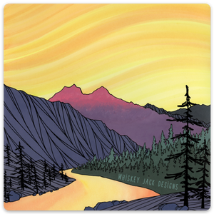 Sleeping Lady Mountain Sticker