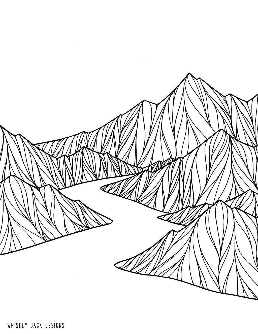 Icicle Creek Coloring Page