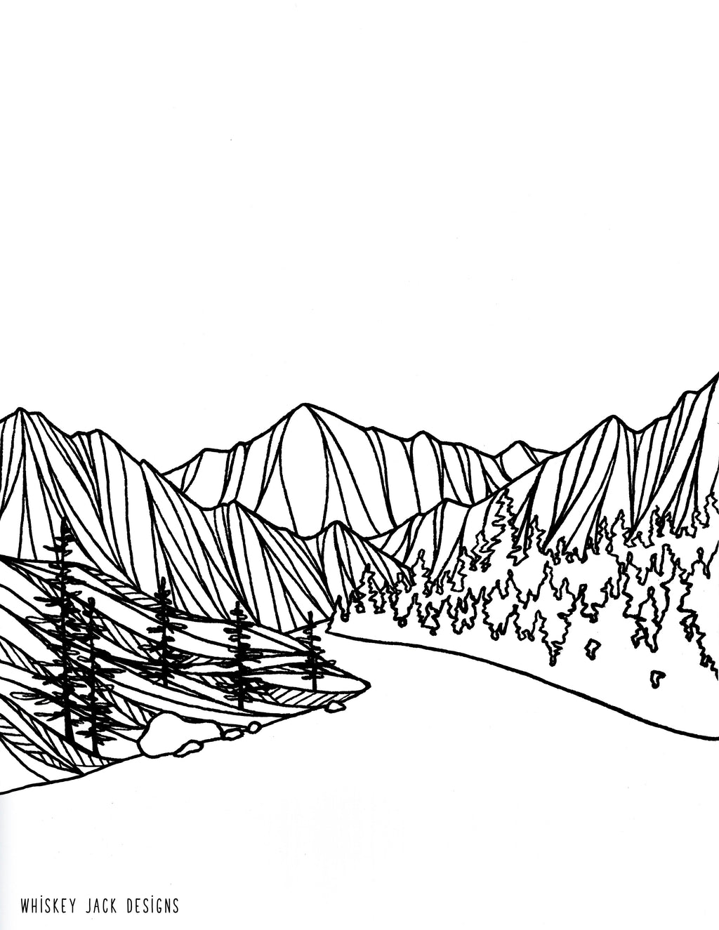 Wenatchee River Coloring Page