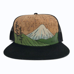 Hand Painted Volcano Hat