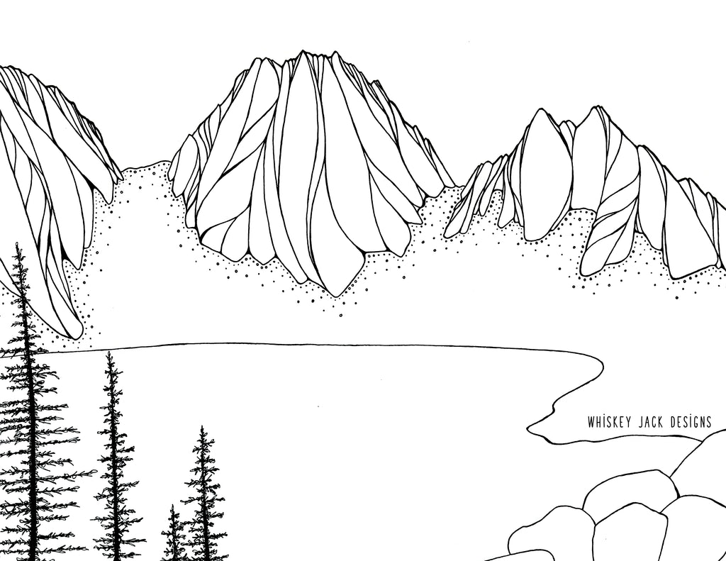 Dragontail Peak Coloring Page
