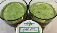 Super Healthy Green Juice made using Chalice Spice's Supergreeen Superfood Blend
