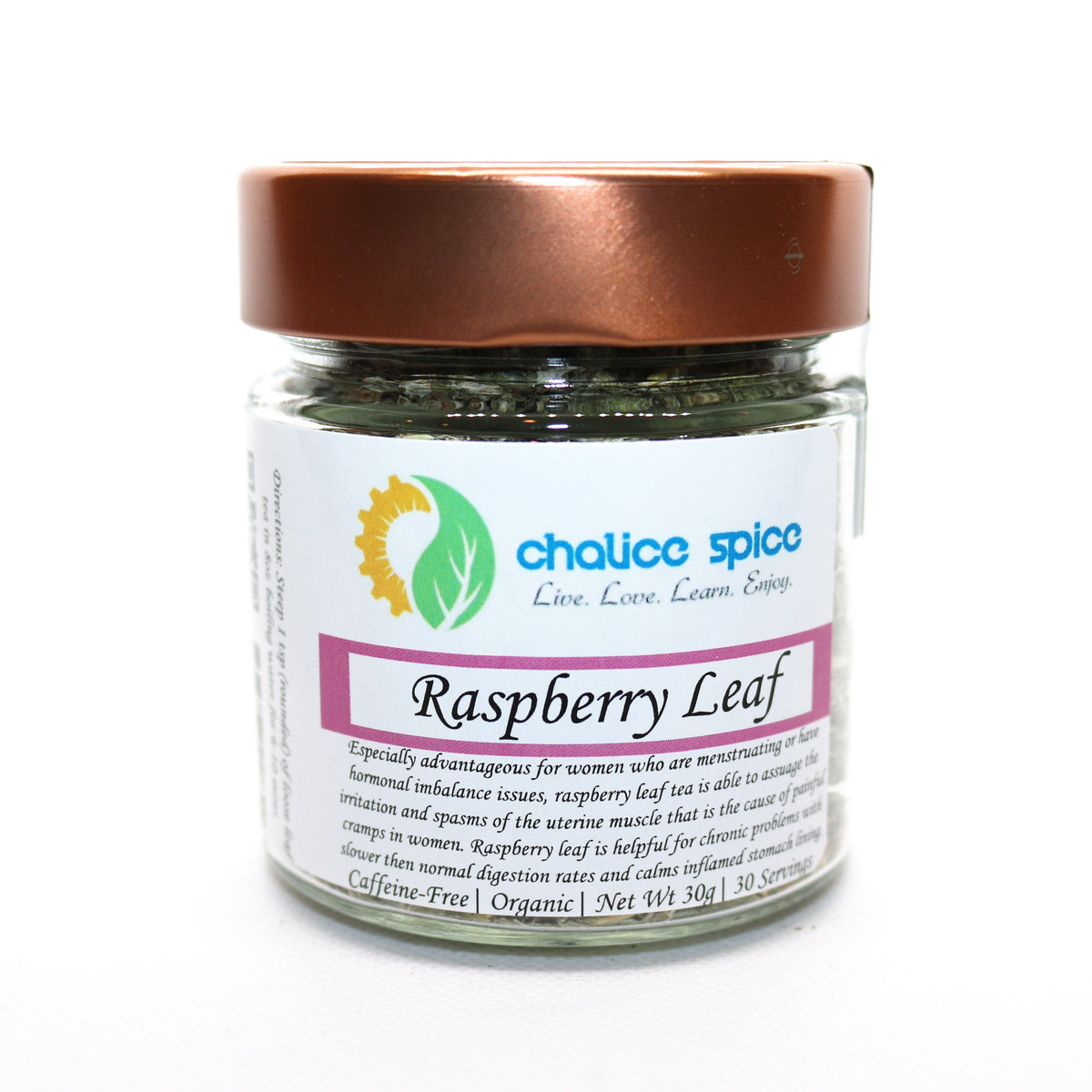 Chalice Spice Organic Raspberry Leaf Herbal Tea