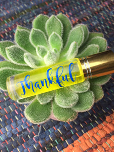 """Thankful"" Essential Oil Roller"