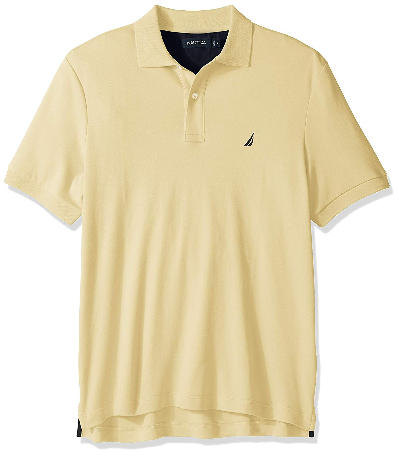 Nautica Mens Classic Fit Short Sleeve Solid Soft Cotton Polo Shirt