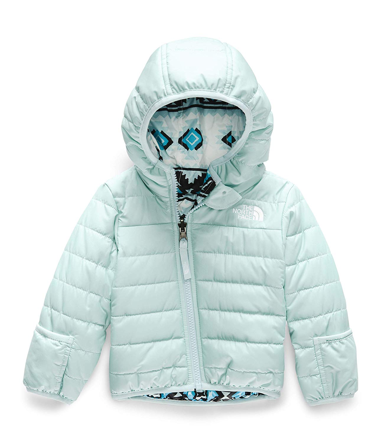 The North Face Girl/'s Reversible Perrito Jacket Periscope Grey