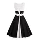 New Summer Dress Sleeveless patchwork style 1950s Vintage Dress Black White Women Party Dress Feminino Rockabilly Vestidos
