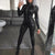 new Women Sexy Slim jumpsuit spring autumn party Wetlook Leather Pants black skinny cool streetwear Clubwear jumpsuits overalls